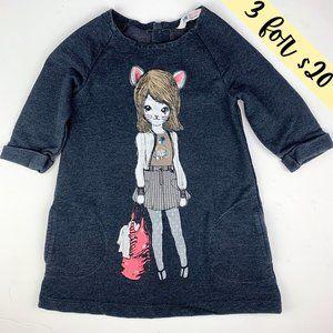 3/$20 H&M Fashionista Cat Retro Knit Sweater Dress